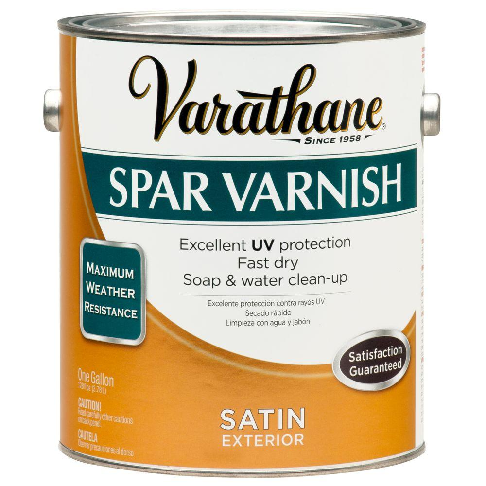 Varathane 1 gal. Clear Satin Water-Based Exterior Spar Varnish (Case of 2)