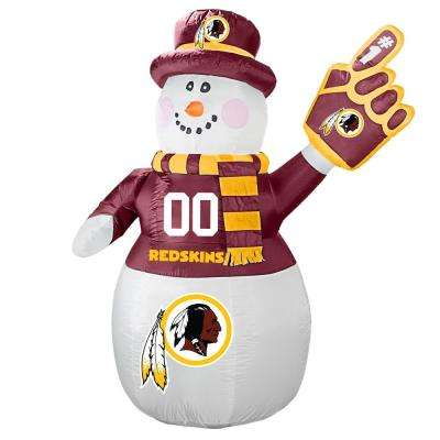 7 ft. Washington Redskins Inflatable Snowman