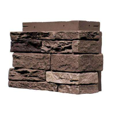 Slatestone Brunswick Brown 4.5 in. x 12.75 in. Faux Stone Siding Corner (4-Pack)