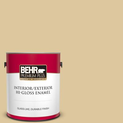 Behr Marquee 5 Gal Ecc 48 1 Winter Rye Semi Gloss Enamel Exterior Paint And Primer In One 545405 The Home Depot