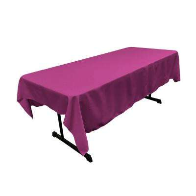 Polyester Poplin 60 in. x 84 in. Magenta Rectangular Tablecloth
