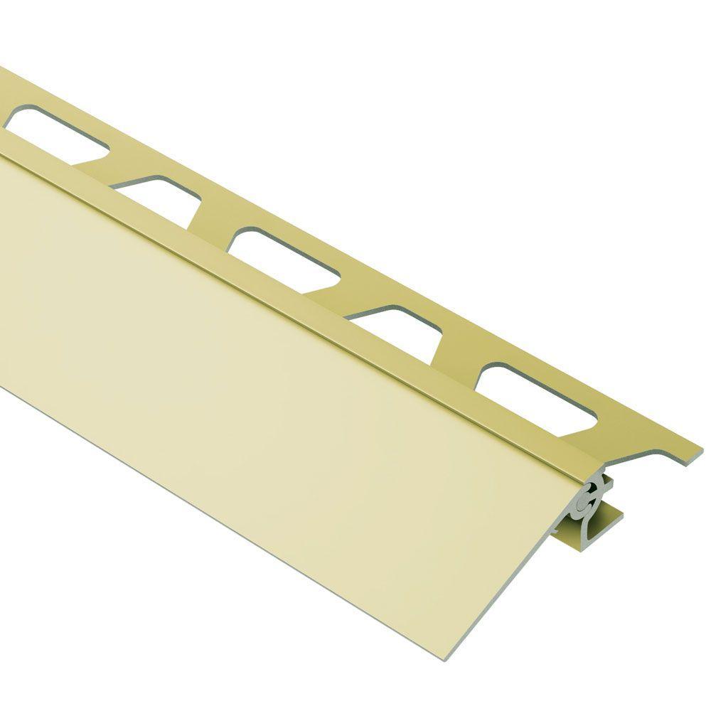 Reno-V Satin Brass Anodized Aluminum 9/16 in. x 8 ft. 2-1/2