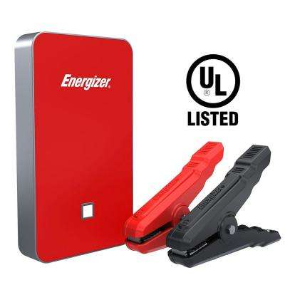 7500mAh UL Listed Lithium Jump Starter + 2.4 Amp Power Bank USB charger in Red
