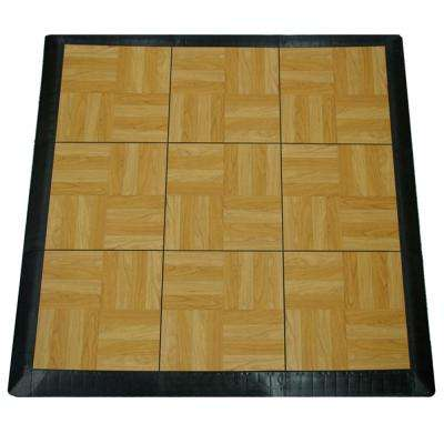 Max Tile 40.75 in. x 40.75 in. x 5/8 in. Light Oak Interlocking Vinyl Tile Portable Tap Dance Floor (9 sq. ft./case)