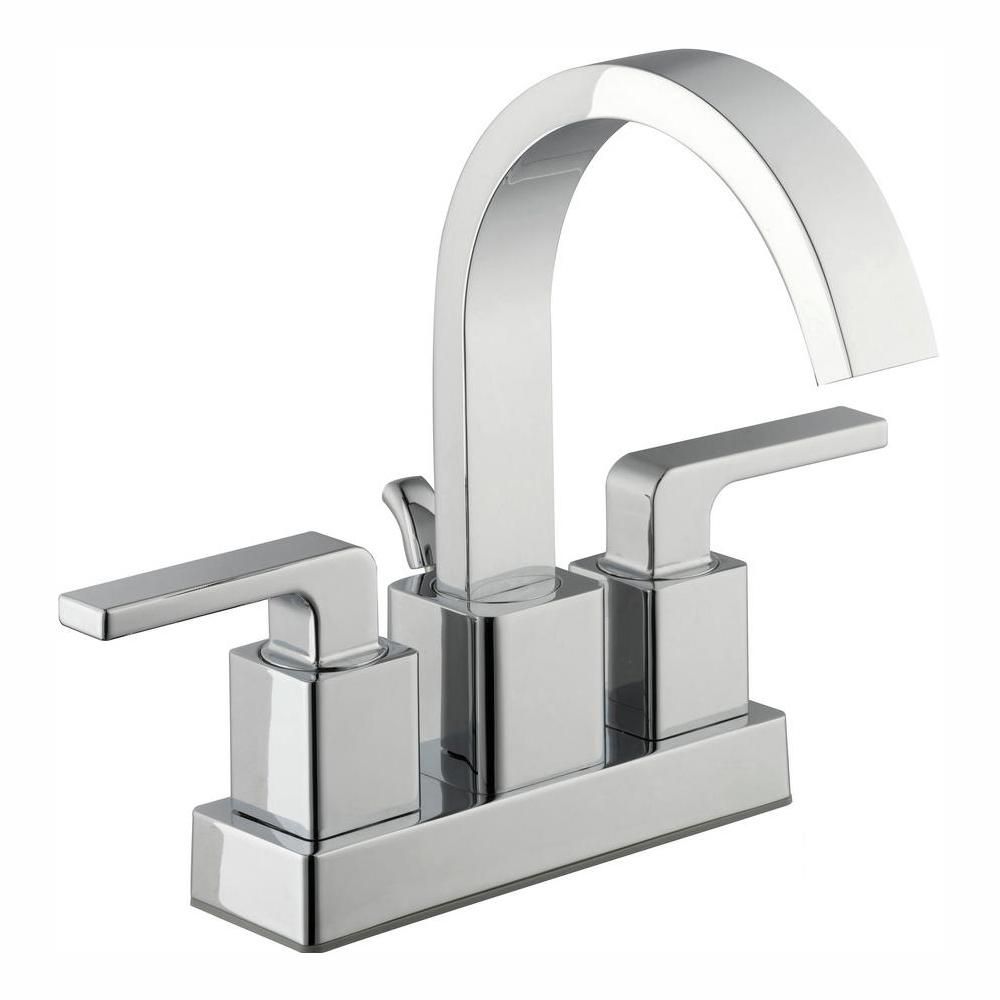 Glacier Bay Farrington 4 in. Centerset 2-Handle Hi-Arc Bathroom Faucet in Chrome