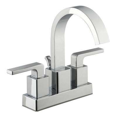 Farrington 4 in. Centerset 2-Handle Hi-Arc Bathroom Faucet in Chrome