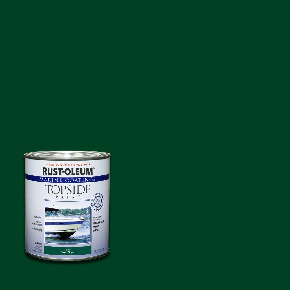 Rust-Oleum Marine 1 qt. Deep Green Gloss Topside Paint (Case of 4)