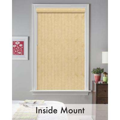 3.5 in. W x 62 in. L Rustic Cream 3.5 Vertical Blind/Louver Set