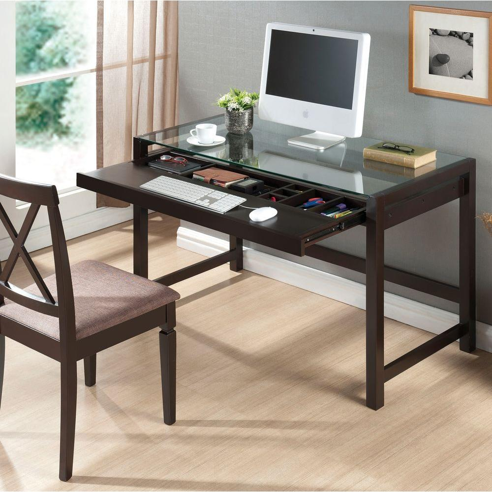 Baxton Studio Idabel Dark Brown Desk