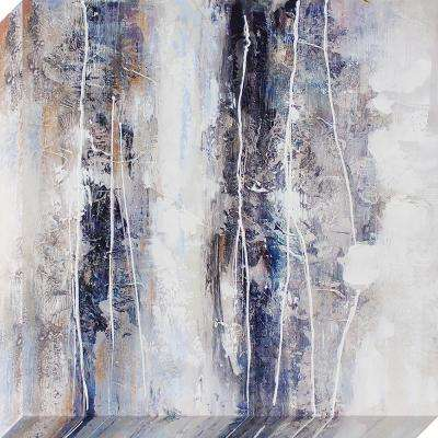 24 in. x 24 in. Textural Abstract Oil Painted Canvas Wall Art