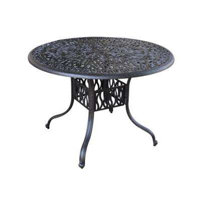 Floral Blossom 42 in. Round Patio Dining Table