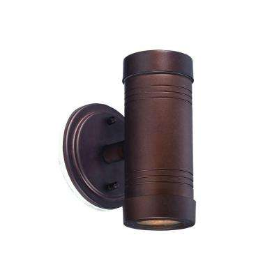 Cylinders Collection 1-Light Architectural Bronze Outdoor Wall-Mount Light