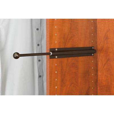 12 in Oil Rubbed Bronze Standard Valet Rod