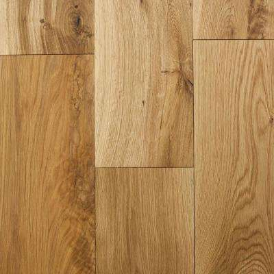 Take Home Sample - Castlebury Natural Wire Brushed White Oak Engineered Hardwood Flooring - 5 in. x 7 in.