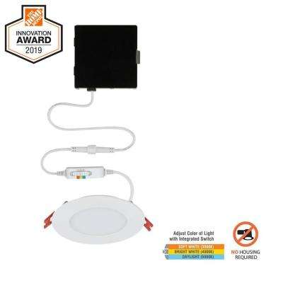 Ultra Slim 4 in. New Construction and Remodel Color Selectable Canless LED Recessed Kit
