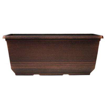 7.6 in. x 15 in. Warm Copper Plastic Torino Window Box