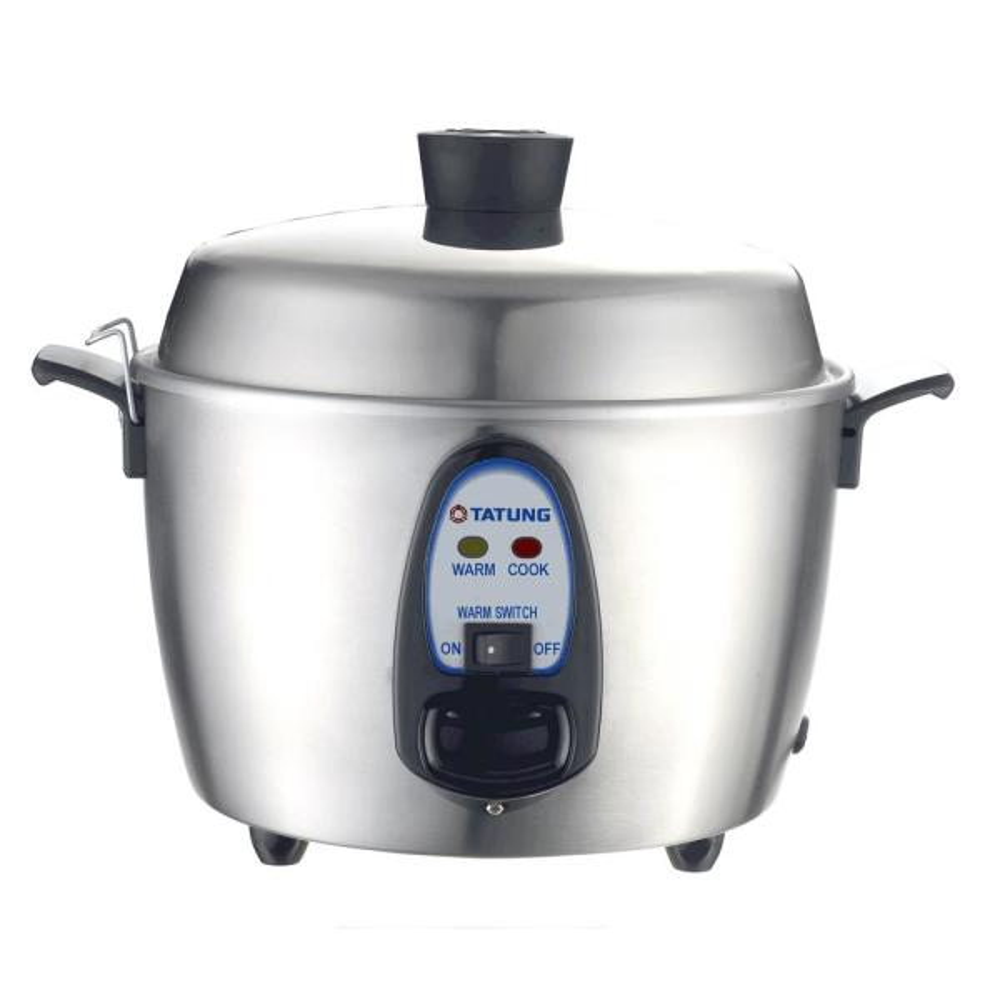 Tatung TAC-06KNUL 6 Cups Multi Functional Cooker, Metallic