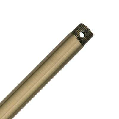 24 in. Antique Brass Extension Downrod for 11 ft. ceilings