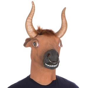 Latex Halloween Party Costume Bull Ring Mask by