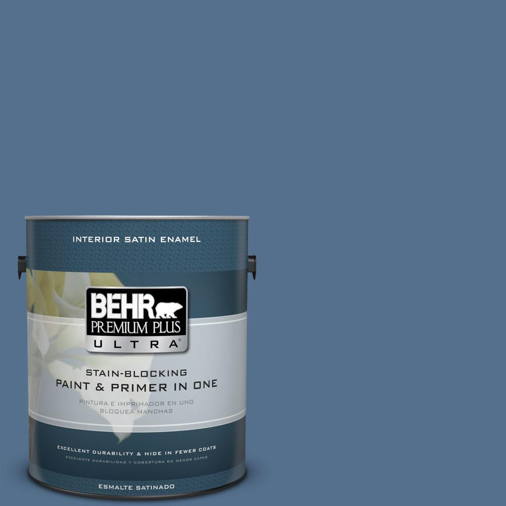 BEHR Premium Plus Ultra 1-gal. #PPF-47 Porch Song Satin Enamel Interior Paint
