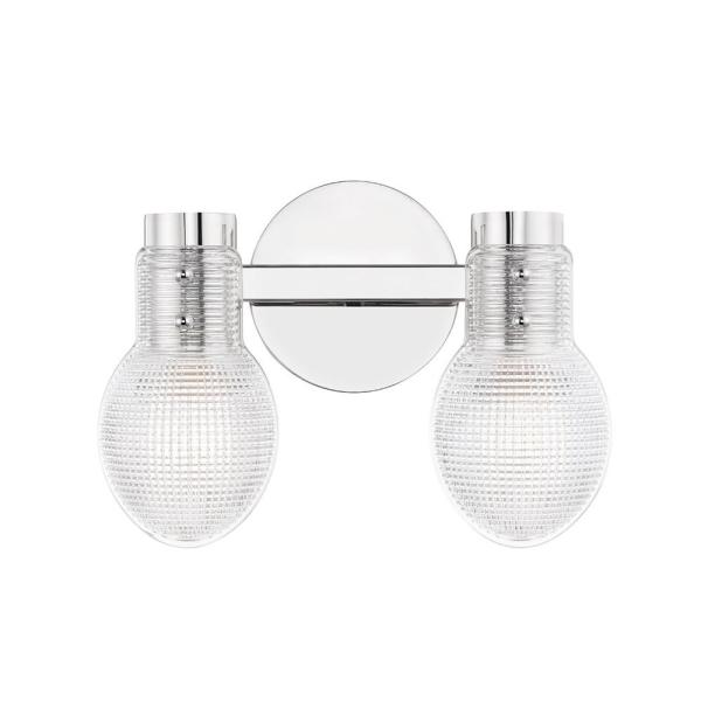 Jenna 4.75 in. 2-Light Polished Nickel Vanity Light