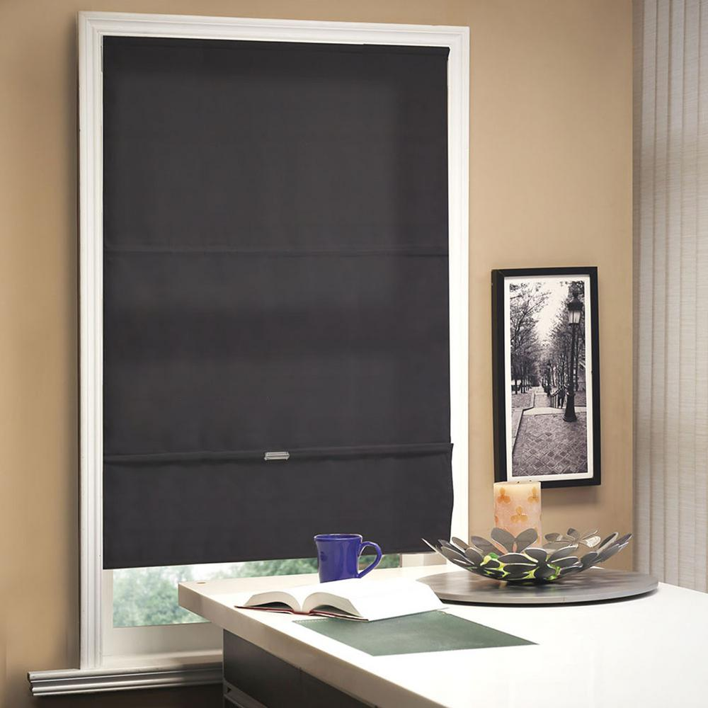 cordless magnetic roman shade window blind fabric curtain drape light filtering privacy