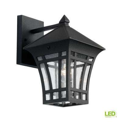 1-Light Bronze Outdoor Pier 60 LED Wall Mount Sconce