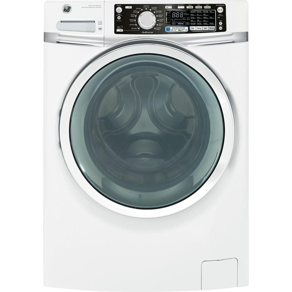 GE Adora 4.8 DOE cu. ft. High-Efficiency Front Load Washer with Steam in White, ENERGY STAR