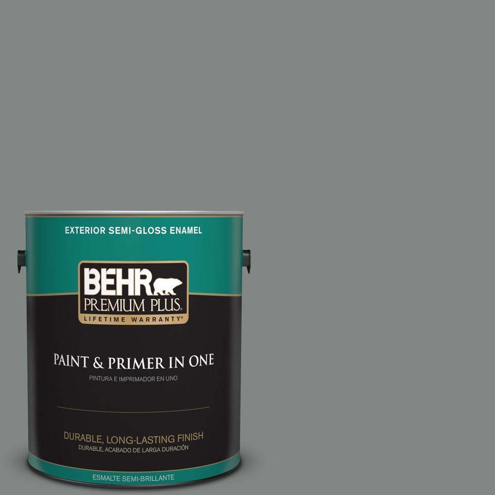 1 gal. #PPU25-17 Euro Gray Semi-Gloss Enamel Exterior Paint