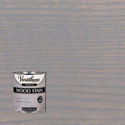 1 qt. Weathered Gray Premium Fast Dry Interior Wood Stain