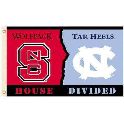NCAA 3 ft. x 5 ft. North Carolina/NC State Rivalry House Divided Flag