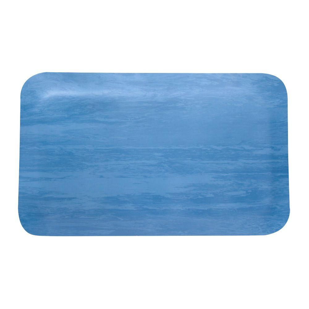 ROPPE Rubber Blue and White 18 in. x 30 in. Anti-Fatigue Mat