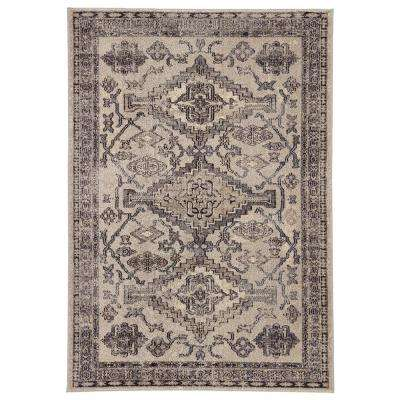 Amuze Gray 5 ft. 3 In. x 7 ft. 6 In. Medallion Rectangle Rug