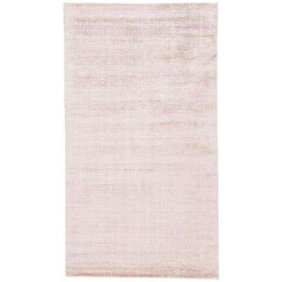 Solids/Handloom Rose Dust 8 ft. x 10 ft. Solid Area Rug