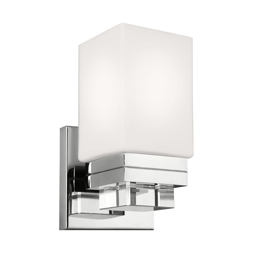 Maddison 1-Light Polished Nickel Vanity Light
