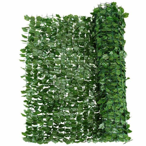 40 in. x95 in. Green Faux Ivy Leaf Decorative Privacy Fence Screen Artificial Hedge Fencing