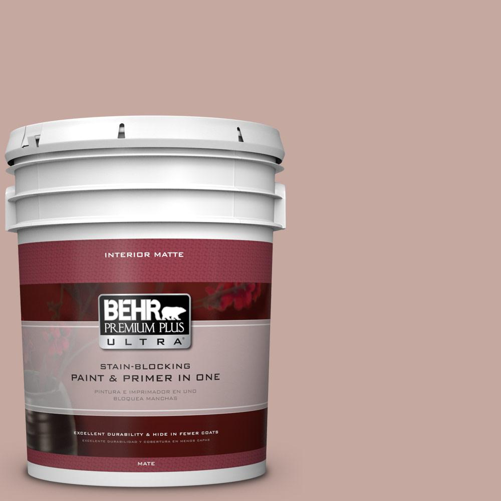 BEHR Premium Plus Ultra Home Decorators Collection 5 gal. #HDC-NT-06 Patchwork Pink Flat/Matte Interior Paint