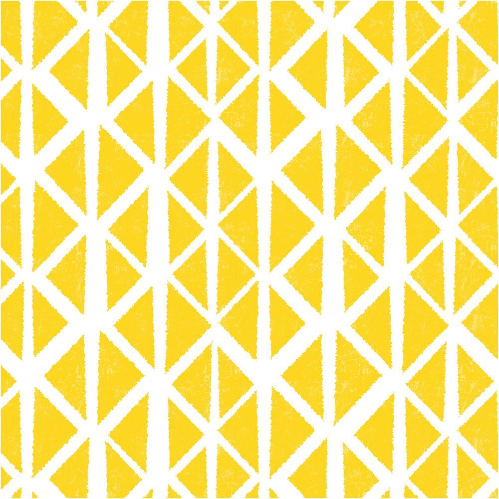 Creative Covering 18 in. x 20 ft. Ashbury Sunshine Yellow Self-Adhesive Vinyl Drawer and Shelf Liner (6 Rolls)