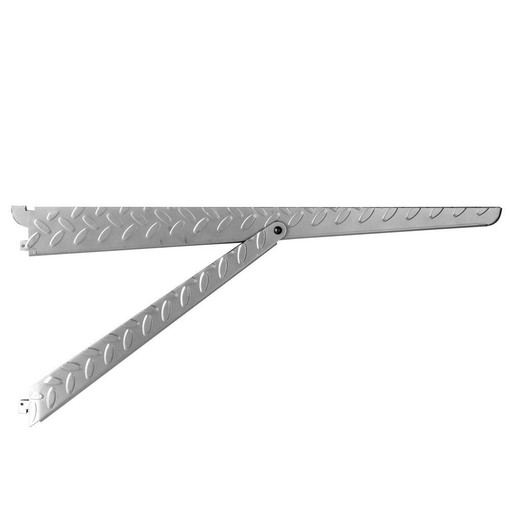 Heavyweight 20 in. 500 lb. Platinum Diamond Plate Shelf Bracket