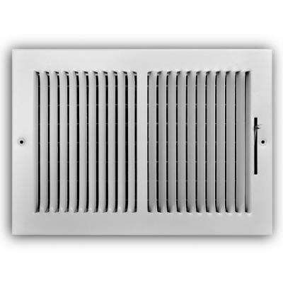 12 in. x 8 in. 2-Way Wall/Ceiling Register