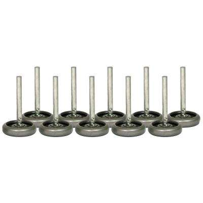3 in. Steel Wheels with 10 Ball-Bearings and 4 in. Stem (10-Pack)