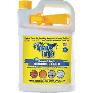 Spray Forget 1 Gal House And Deck Cleaner Outdoor Mold Remover With