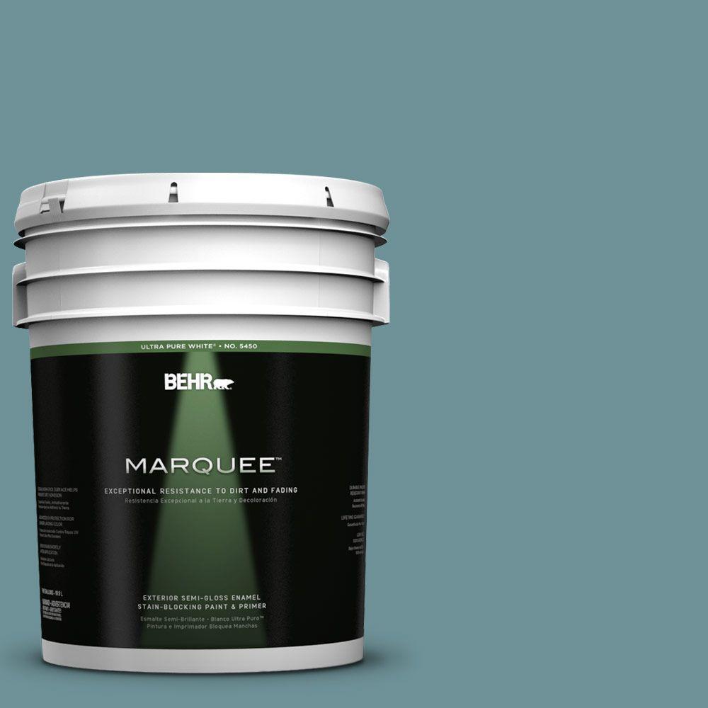 BEHR MARQUEE 5-gal. #510F-5 Bayside Semi-Gloss Enamel Exterior Paint
