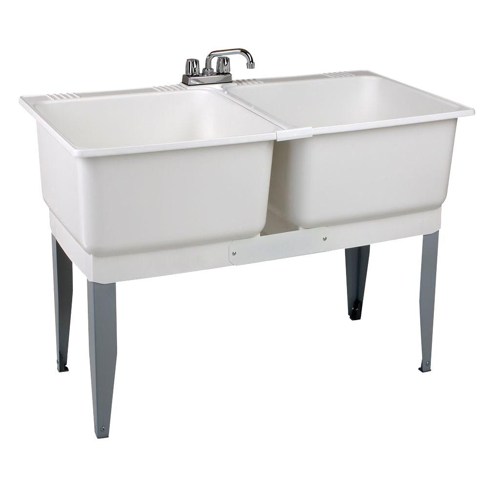 MUSTEE 46 in. x 34 in. Plastic Laundry Tub-24C - The Home ...