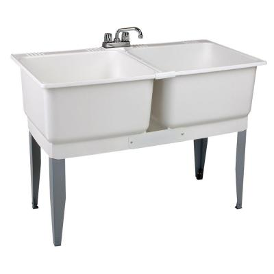 46 in. x 34 in. Plastic Laundry Tub