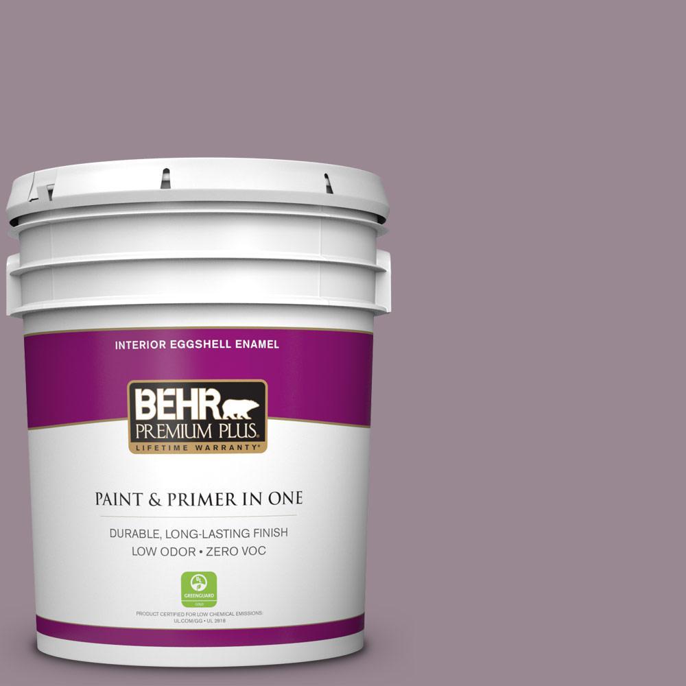 5 gal. #690F-5 Purple Mauve Zero VOC Eggshell Enamel Interior Paint