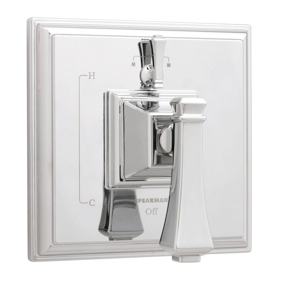 Rainier Pressure Balance Valve with Diverter and Trim in Polished Chrome