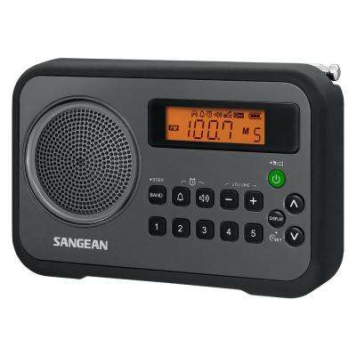 AM/FM/ Stereo Portable Digital Radio Alarm Clock with Protective Bumper