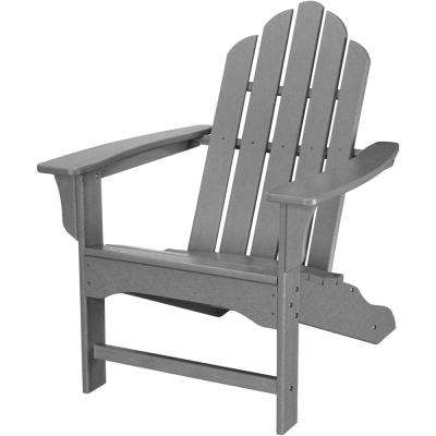 All-Weather Grey Plastic Outdoor Adirondack Chair