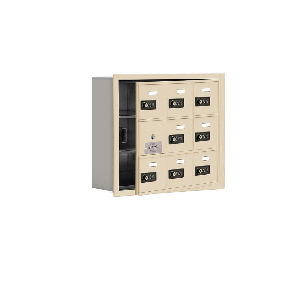 19100 Series 22.75 in. W x 18.75 in. H x 5.75 in. D 8 Doors Cell Phone Locker R-Mount Resettable Locks in Sandstone